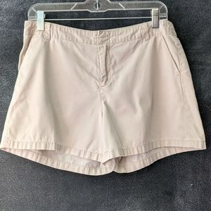 Banana Republic Flat Front Khaki Chino Shorts